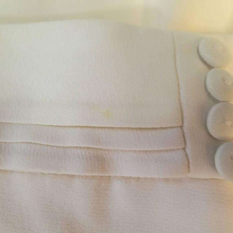 VIKTOR & ROLF Size 6 Off White Silk Tuxedo Style Pleated Bib Pants Suit 9