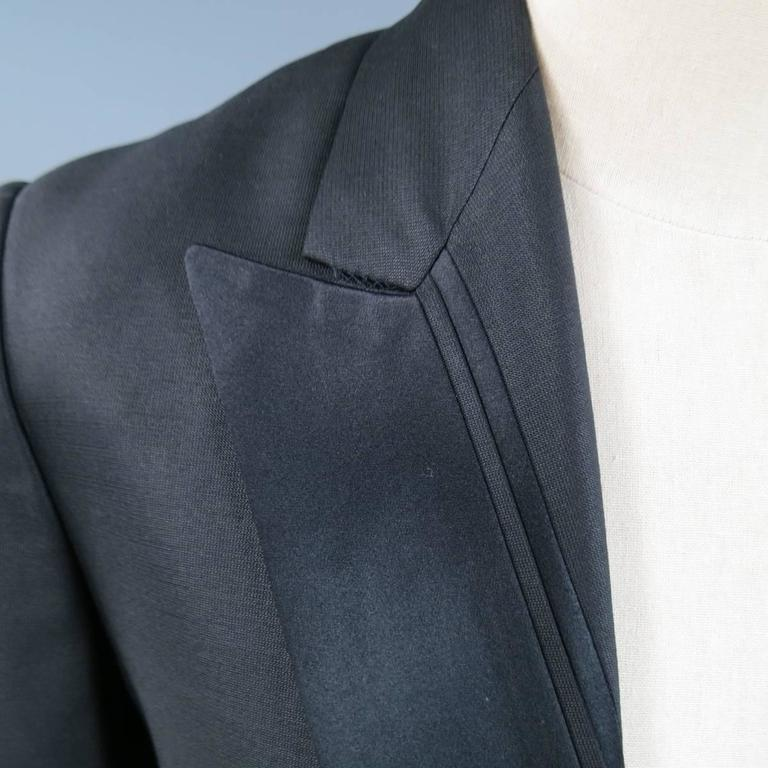 men 39 s viktor and rolf 36 black wool silk stripe peak lapel dinner tuxedo jacket for sale at. Black Bedroom Furniture Sets. Home Design Ideas