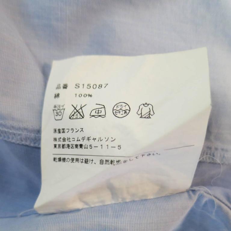 COMME des GARCONS Size M Light Blue Color Block Panel Cotton Long Sleeve Shirt 10