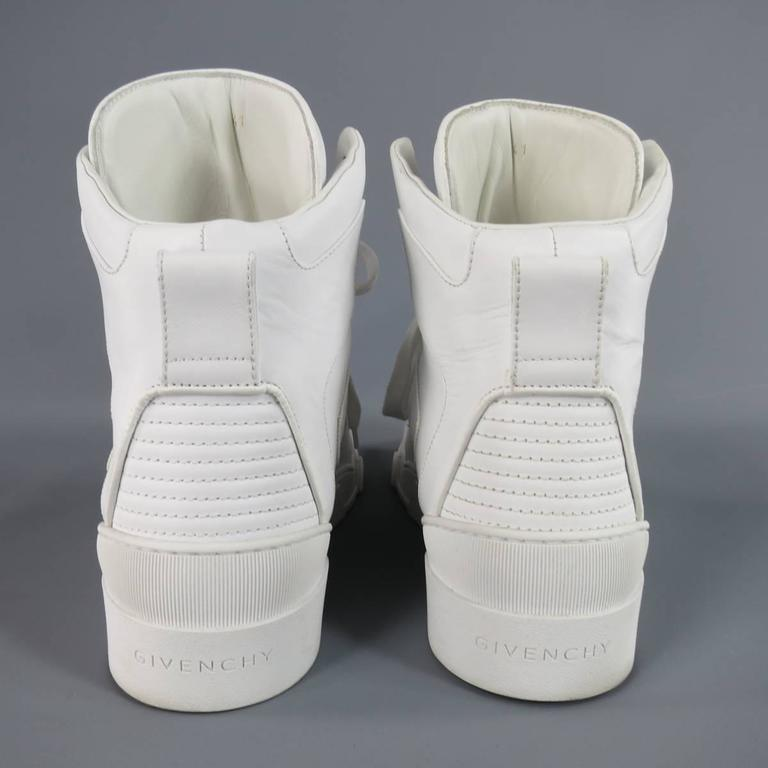 Men S Givenchy Size 8 White Leather Tyson Ii High Top