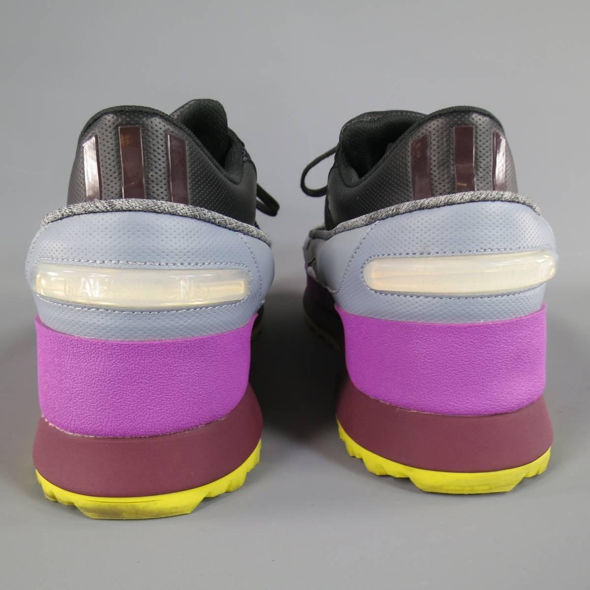 Raf Simons X Adidas Size 11 Black Gray Purple And Yellow
