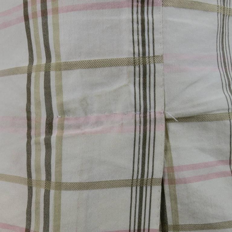Men's BOTTEGA VENETA 38 Short Cream Cotton / Silk Brown & Pink Plaid Sport Coat 8