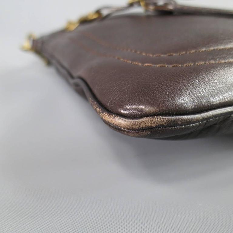LOUIS VUITTON Brown Utah Textured Leather Sac Plat Messenger Bag 2