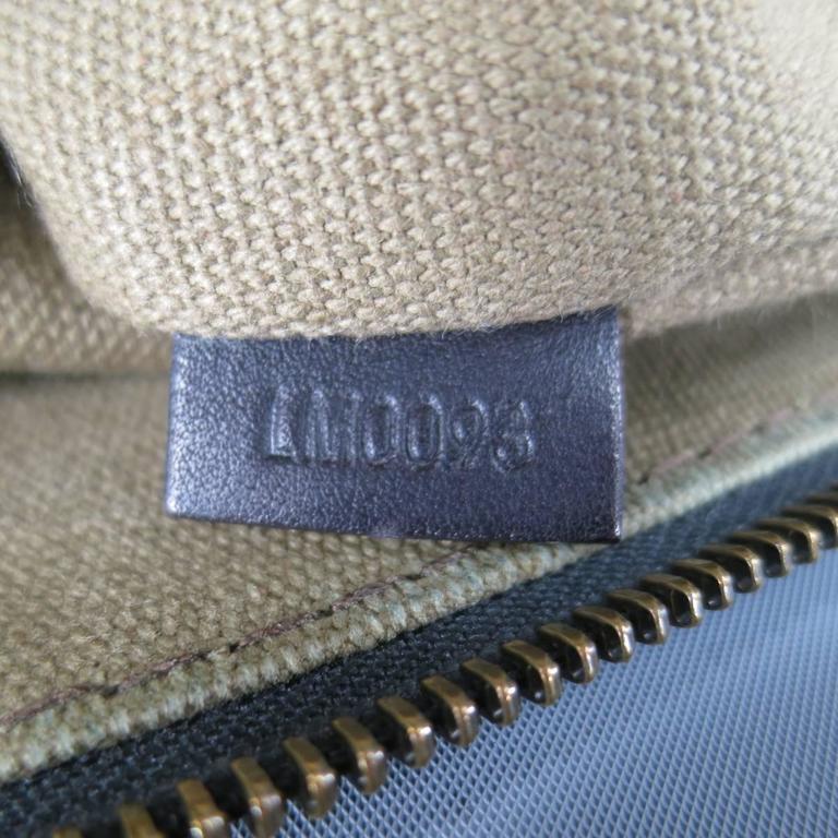 LOUIS VUITTON Brown Utah Textured Leather Sac Plat Messenger Bag 5