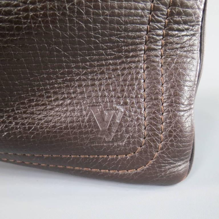 Women's or Men's LOUIS VUITTON Brown Utah Textured Leather Sac Plat Messenger Bag