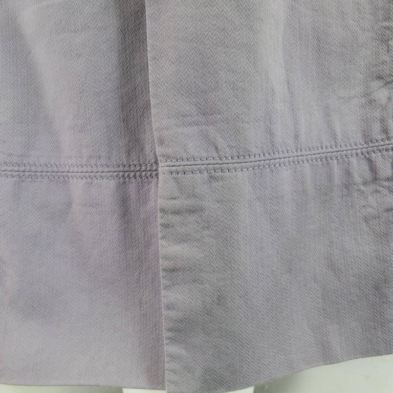 ANN DEMEULEMEESTER Size M Charcoal & Lavender Color Block Wool / Cotton Shirt 4