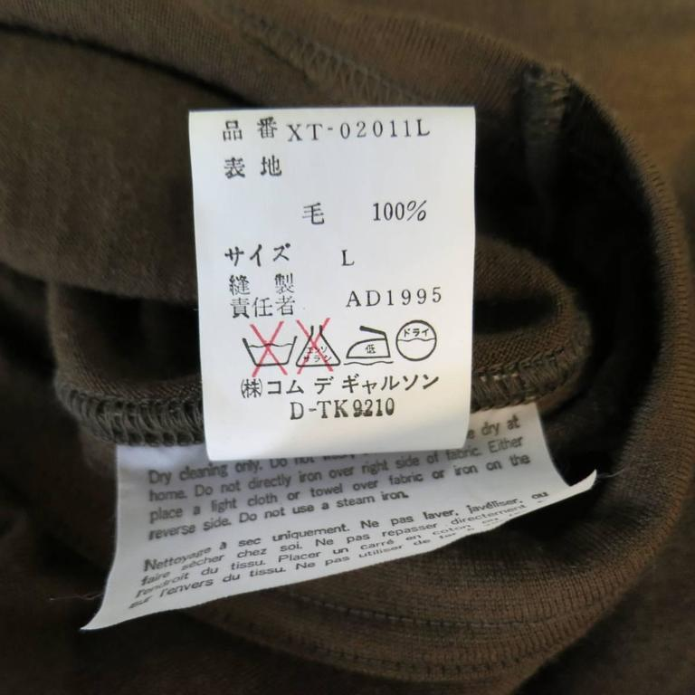 Men's Vintage COMME des GARCONS Size L Light Brown Soft Wool Crewneck Pullover 7