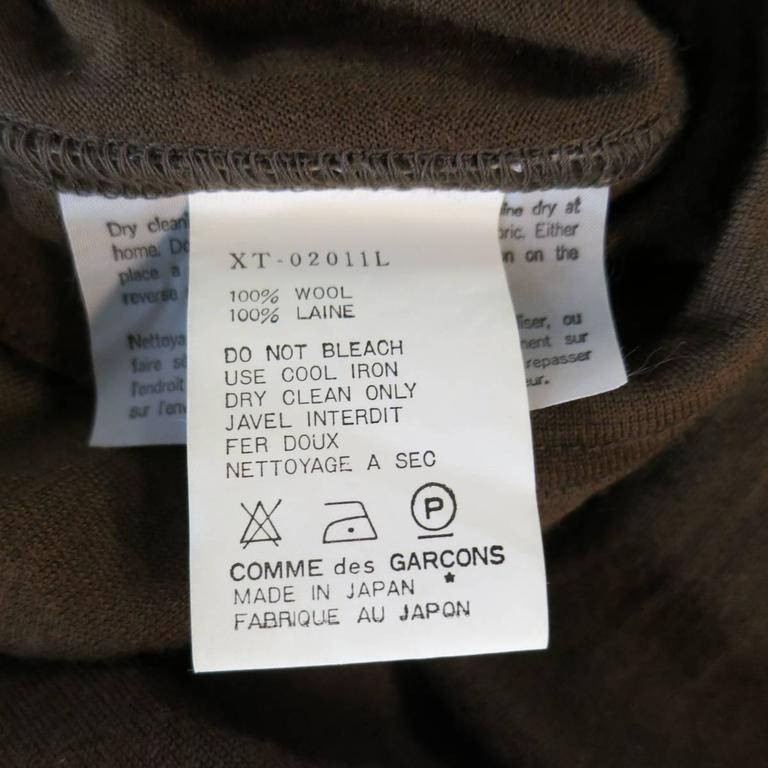 Men's Vintage COMME des GARCONS Size L Light Brown Soft Wool Crewneck Pullover 6