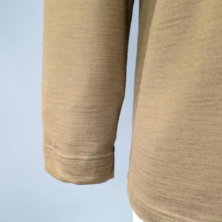 Men's Vintage COMME des GARCONS Size L Light Brown Soft Wool Crewneck Pullover 4
