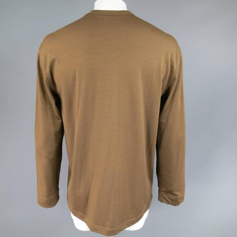 Men's Vintage COMME des GARCONS Size L Light Brown Soft Wool Crewneck Pullover 3