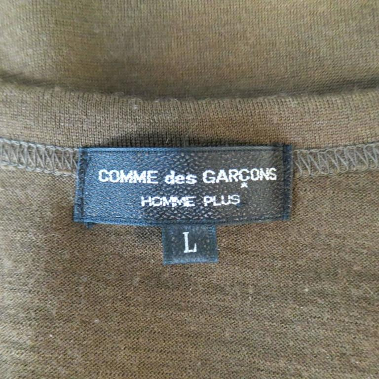 Men's Vintage COMME des GARCONS Size L Light Brown Soft Wool Crewneck Pullover 5