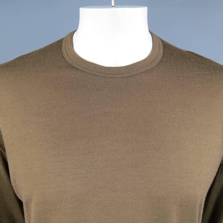 Men's Vintage COMME des GARCONS Size L Light Brown Soft Wool Crewneck Pullover 2
