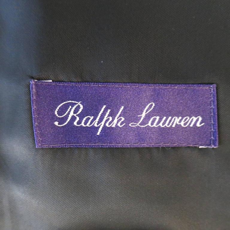 Men's RALPH LAUREN Purple Label 42 Regular Navy Wool / Cashmere Military Jacket 6
