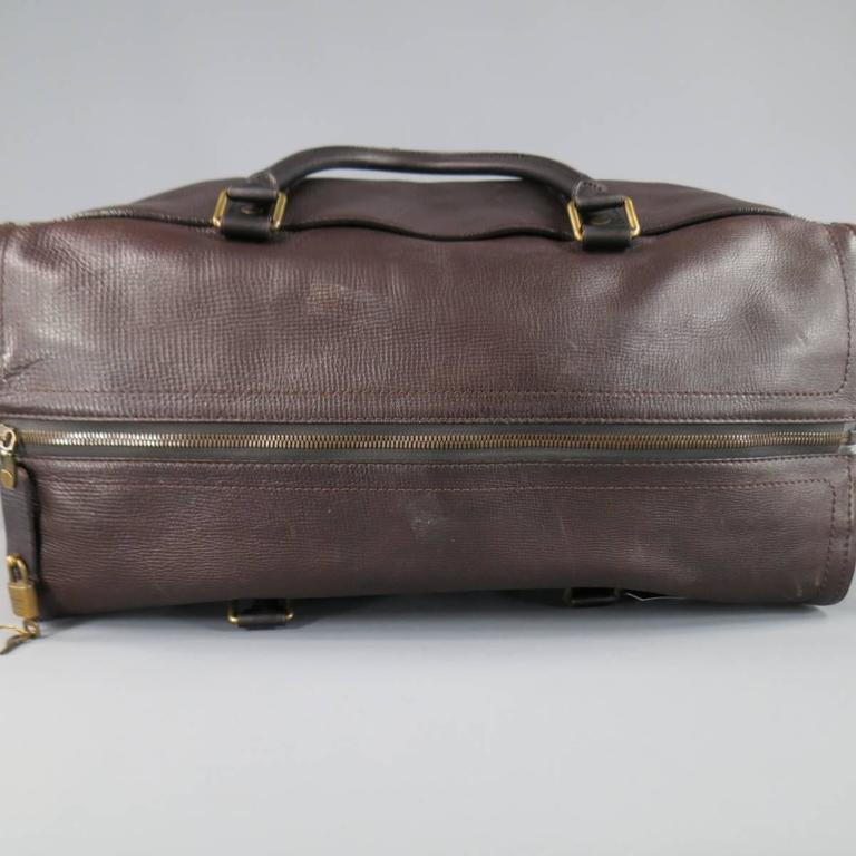 e92e2ac1b79c LOUIS VUITTON Bag Brown Utah Leather COMMANCHE 55 Travel Duffle Bag Retail   4400 In Fair Condition