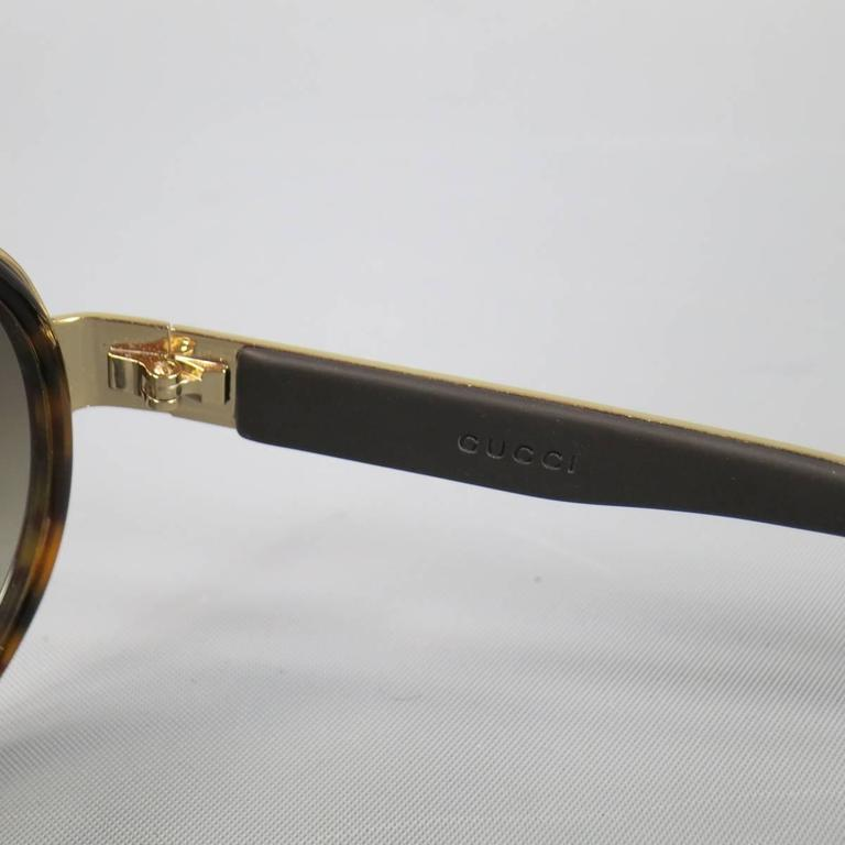0019b27440 Gucci Aviator-style Enamelled Gold-tone Sunglasses