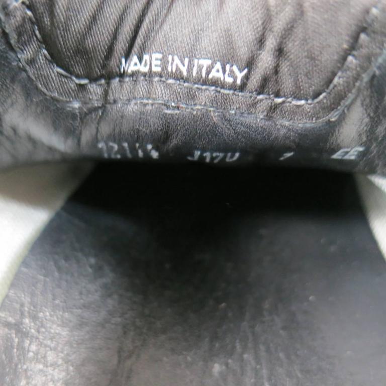 Men's SALVATORE FERRAGAMO Size 8 Black & White Suede Sneakers For Sale 5