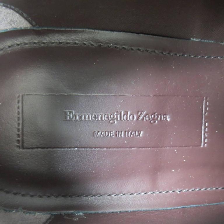 Men's ERMENEGILDO ZEGNA Size 8 Black Pebbled Leather Lace Up 7