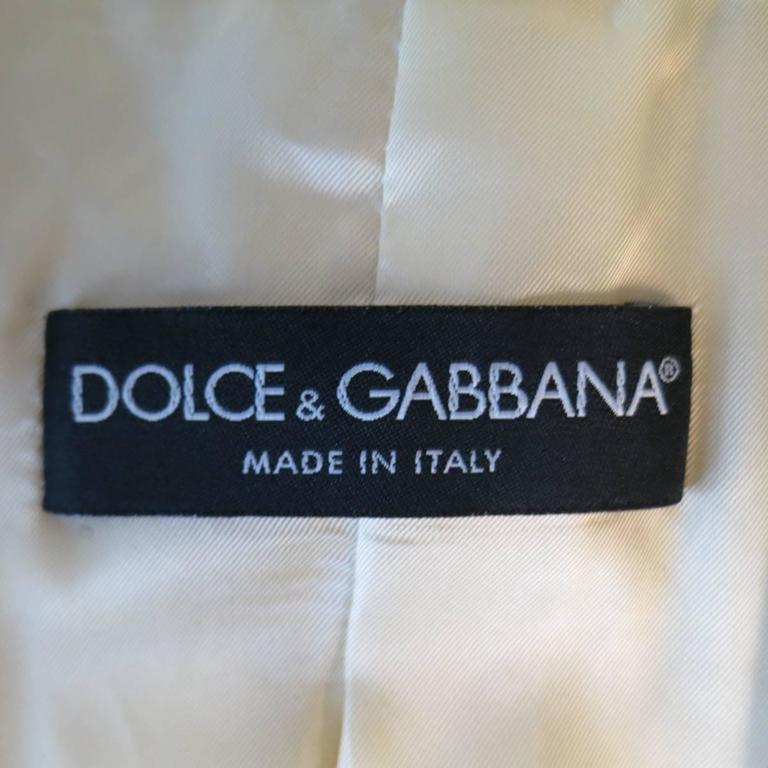 DOLCE & GABBANA Size 6 Beige Pink & Purple Floral Print Blazer 7
