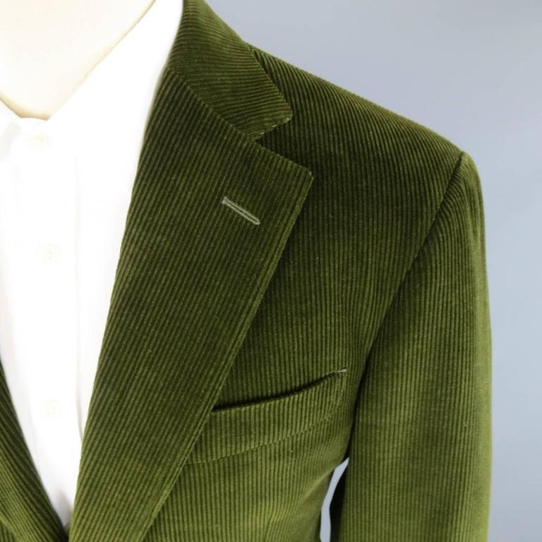 Men S Ermenegildo Zegna 38 Regular Olive Green Corduroy 2