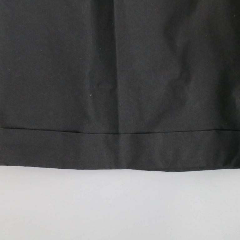 Men's ALEXANDER MCQUEEN Size 36 Black Cotton Pleated Cuffed Shorts 4