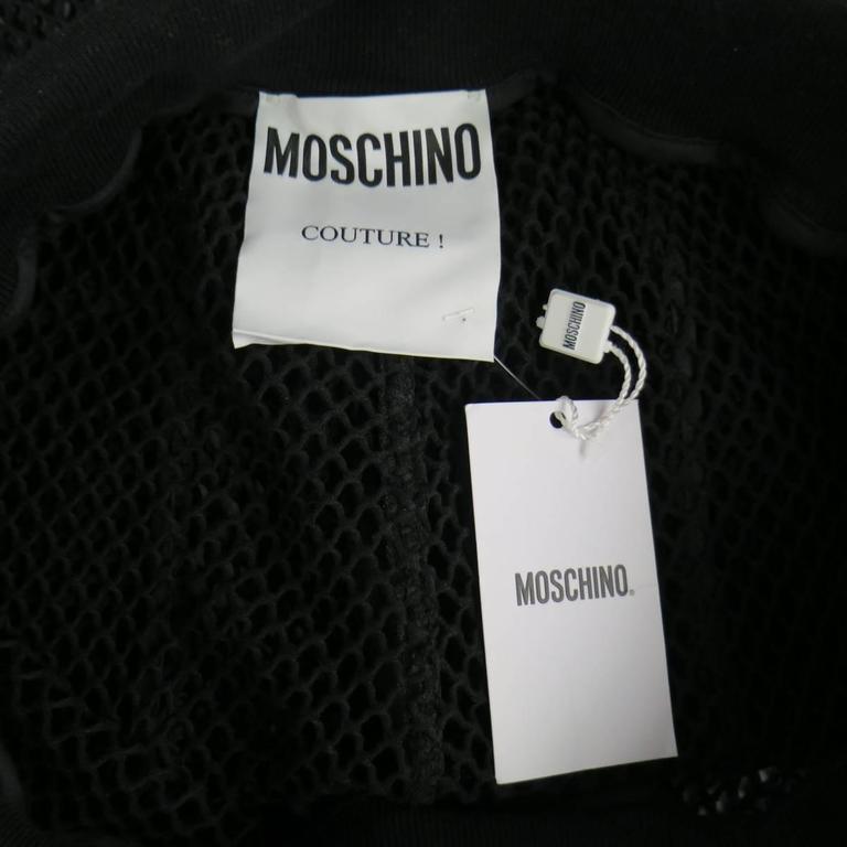 Men's MOSCHINO COUTURE Size 30 Black Fishnet Mesh Drawstring Shorts 6