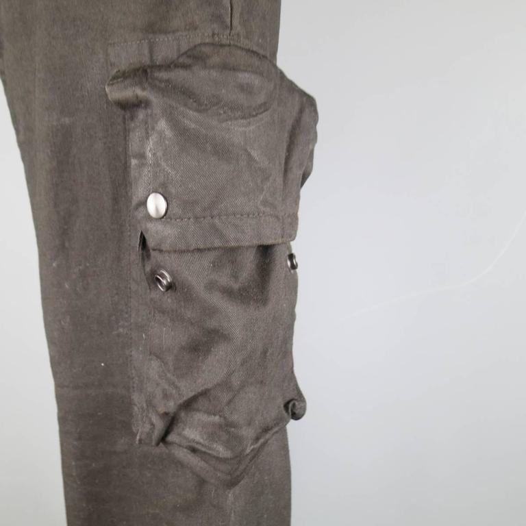 Julius 7 Size 32 Black Waxed Coated Cotton Industrial