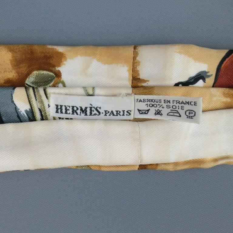 Vintage HERMES Brown and Cream Concerto Painting Print ...