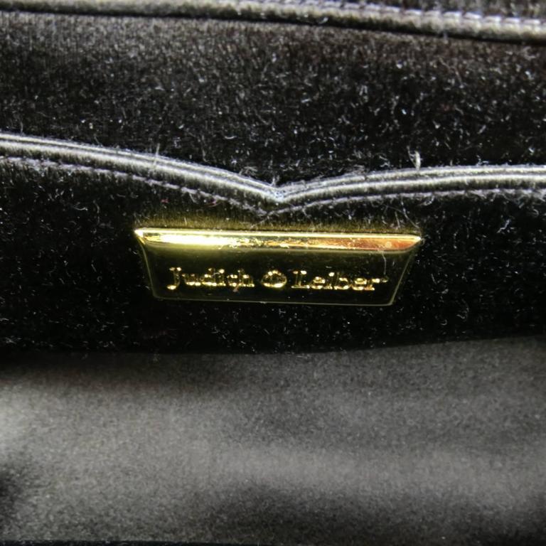 Judith Leiber Handbag - Brown Gold Alligator Leather Evening Bag For Sale 4