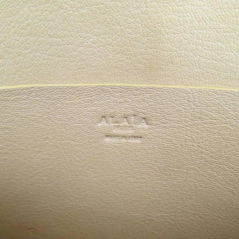 ALAIA Beige Snakeskin Top Handles Shoulder Handbag 9
