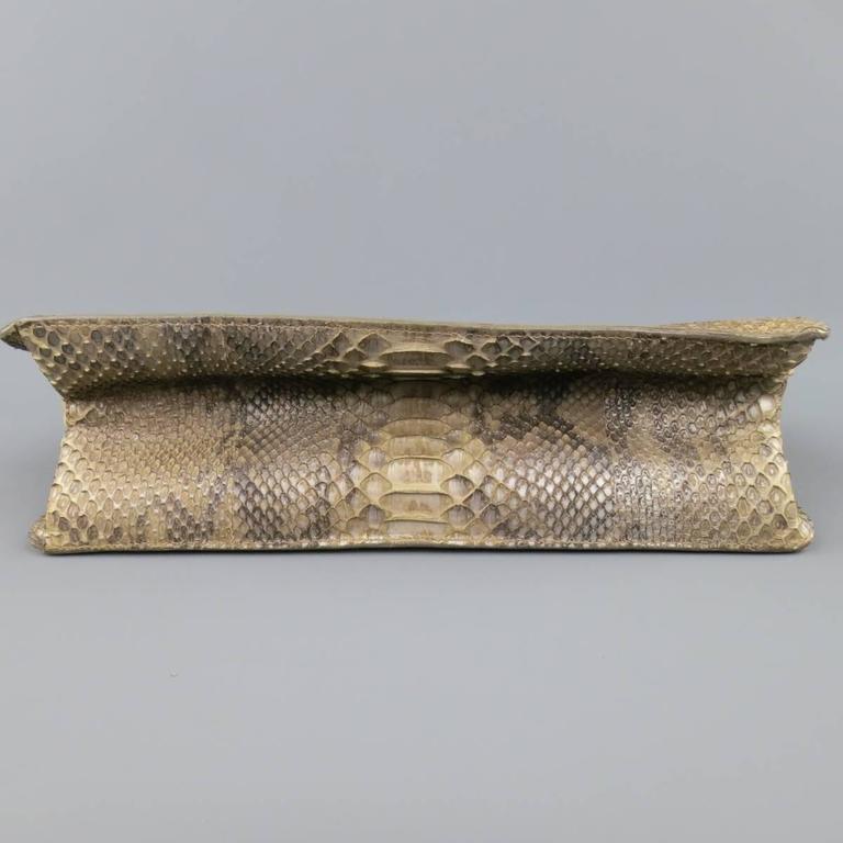 ALAIA Beige Snakeskin Top Handles Shoulder Handbag 7