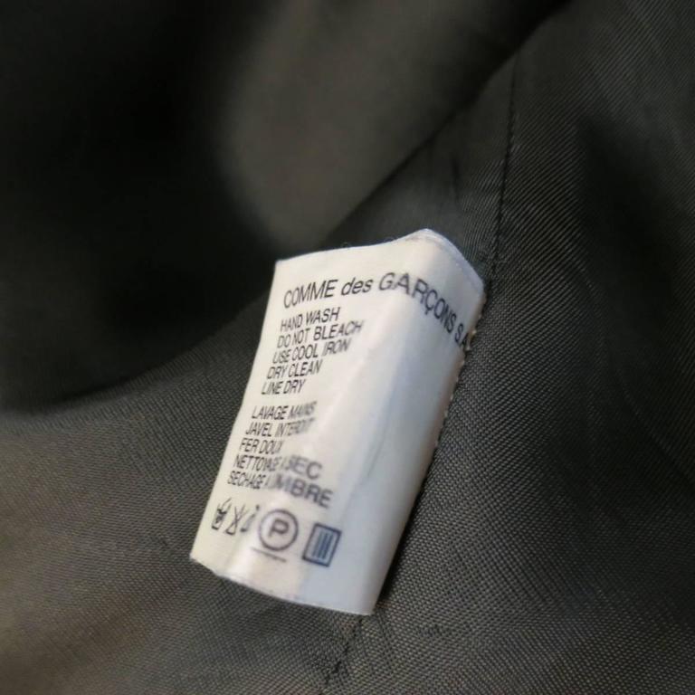 COMME des GARCONS Size L Burgundy & Gray Two Toned Vest Front Long Sleeve Shirt 9