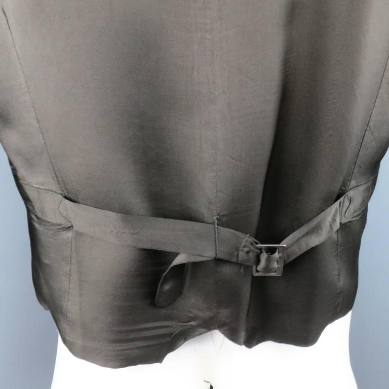 COMME des GARCONS Size L Burgundy & Gray Two Toned Vest Front Long Sleeve Shirt 7