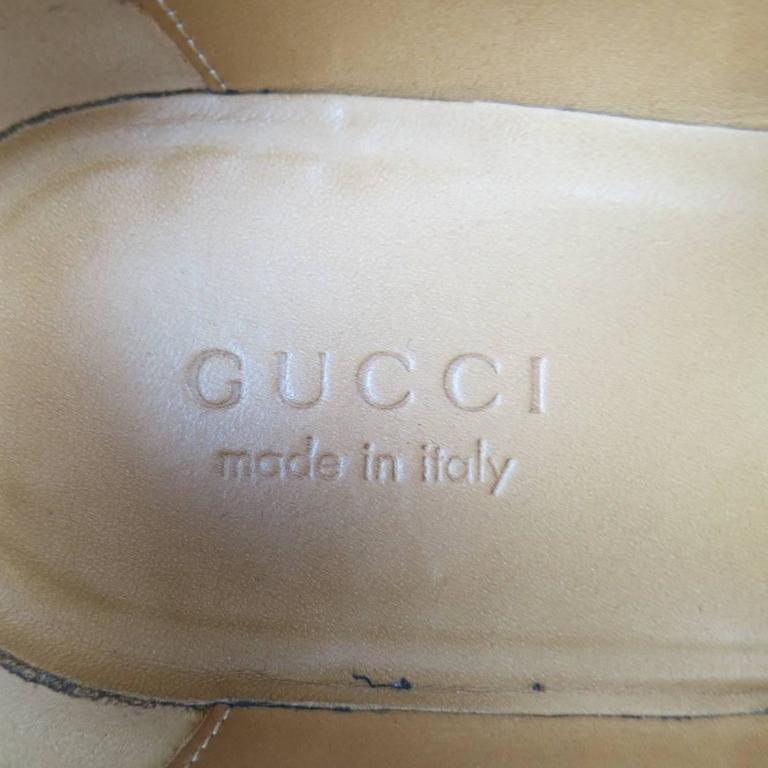 Men's GUCCI Size 10 Brick Red Ombre Leather Silver Horsebit Loafers For Sale 6