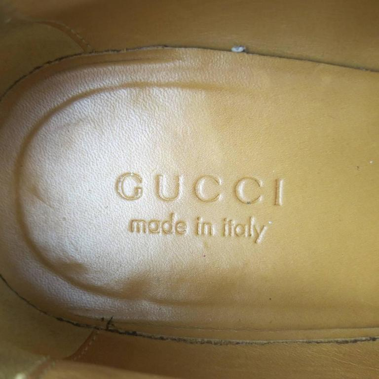 Men's GUCCI Size 10.5 Tan Distressed Pebbled Leather Double Monk Strap Loafers For Sale 6