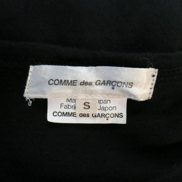 COMME des GARCONS Size S Black Coated Print Sides Long Sleeve T-shirt 4