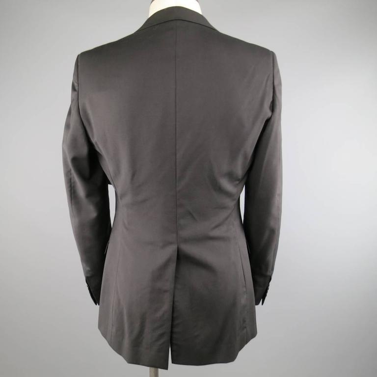 DIOR HOMME 40 Regular Black Wool Notch Lapel 2 Button Sport Coat In Excellent Condition For Sale In San Francisco, CA