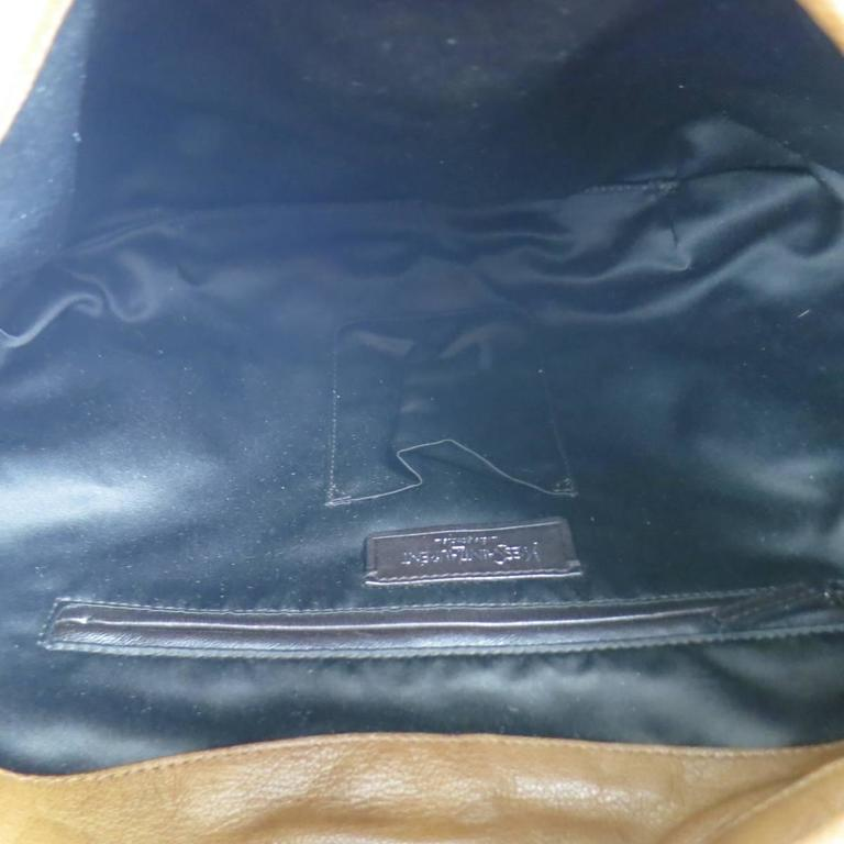 YVES SAINT LAURENT by TOM FORD 2003 Brown Leather Gathered Shoulder Bag For Sale 5