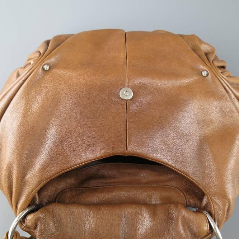 YVES SAINT LAURENT by TOM FORD 2003 Brown Leather Gathered Shoulder Bag For Sale 6