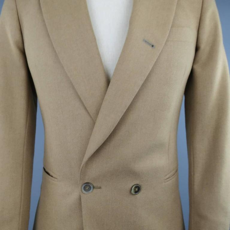 Men S Paul Smith 34 Tan Camel Hair Double Breasted Sport