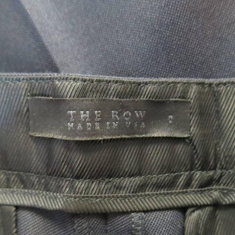 THE ROW Size 0 Navy Virgin Wool Slim Leg Cuffed Dress Pants 4