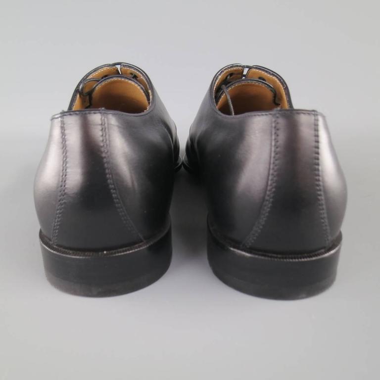 Men's CHRISTIAN LOUBOUTIN Size 9 Black Leather CAPRI FLAT Monk Strap Lace Up For Sale 3