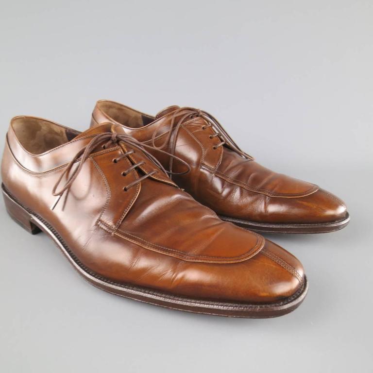 Pre-owned - Leather lace ups Salvatore Ferragamo OyqJMxg2