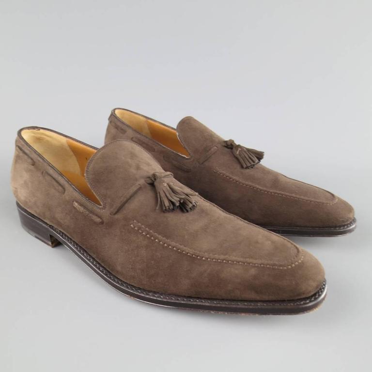 Suede Ferragamo Mens Shoes