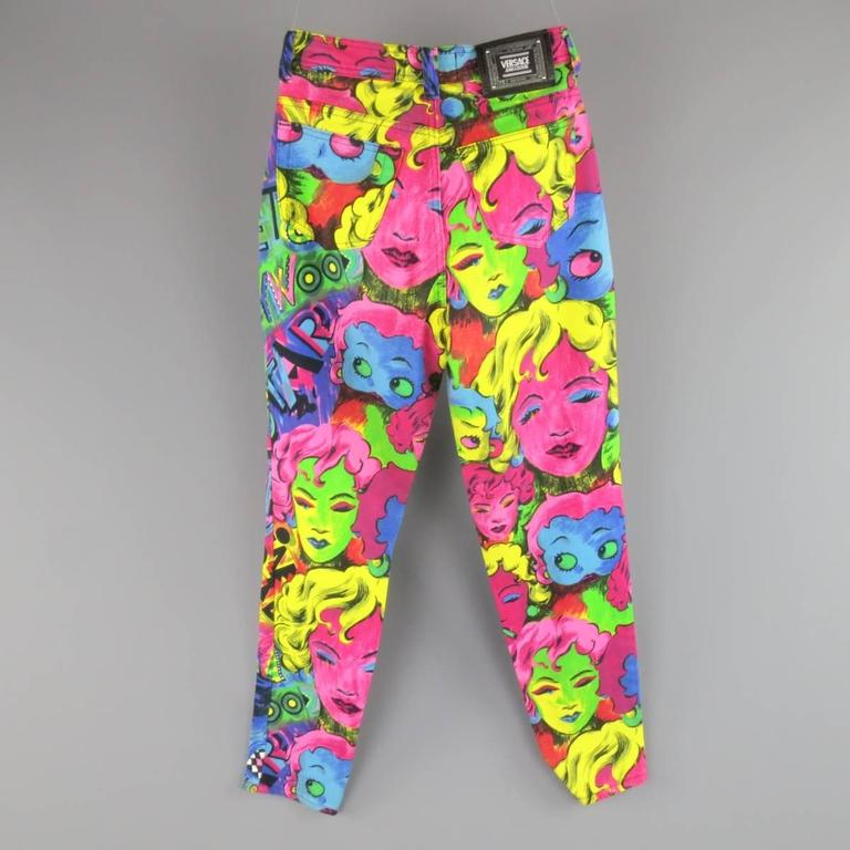 GIANNI VERSACE Jeans COUTURE 6 Multi-Color Marilyn Monroe and Betty Boop Jeans 6