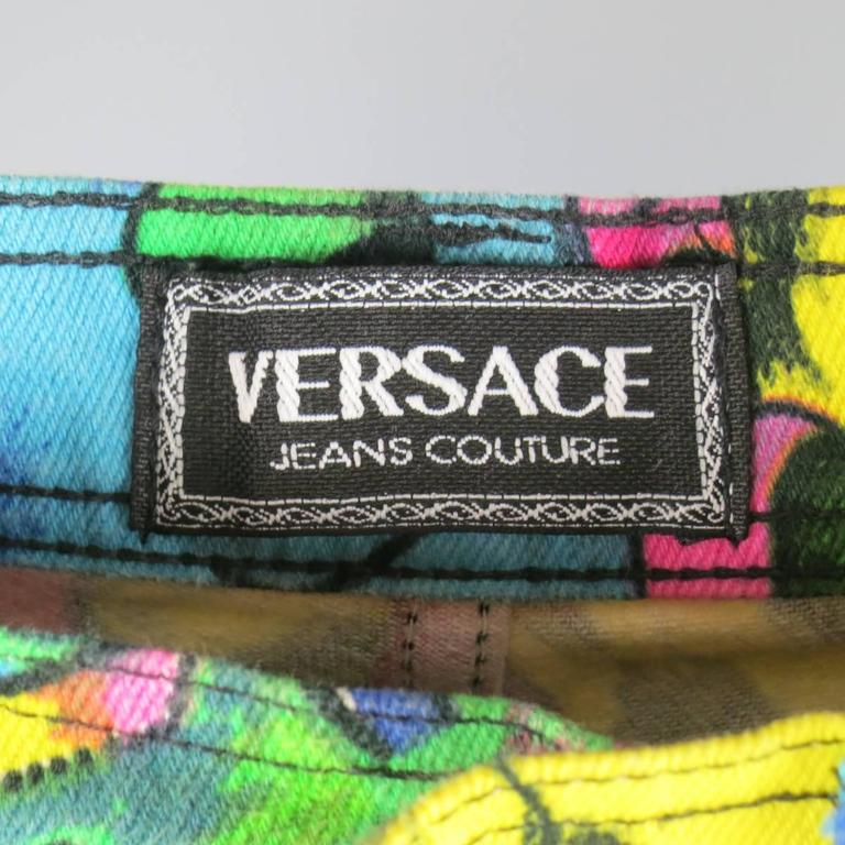 GIANNI VERSACE Jeans COUTURE 6 Multi-Color Marilyn Monroe and Betty Boop Jeans 10
