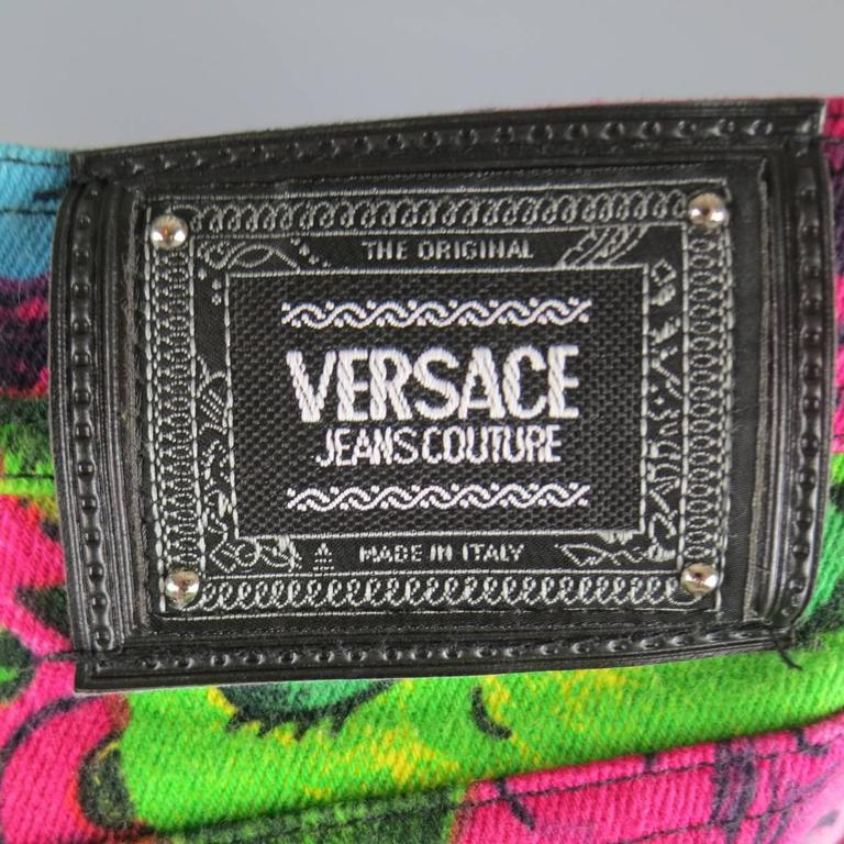 GIANNI VERSACE Jeans COUTURE 6 Multi-Color Marilyn Monroe and Betty Boop Jeans 9