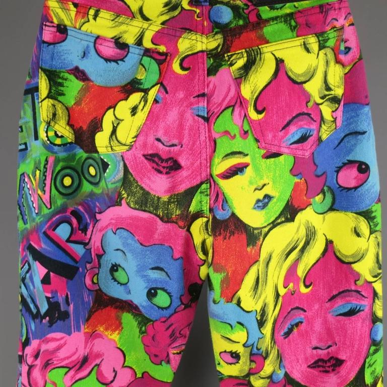 GIANNI VERSACE Jeans COUTURE 6 Multi-Color Marilyn Monroe and Betty Boop Jeans 7
