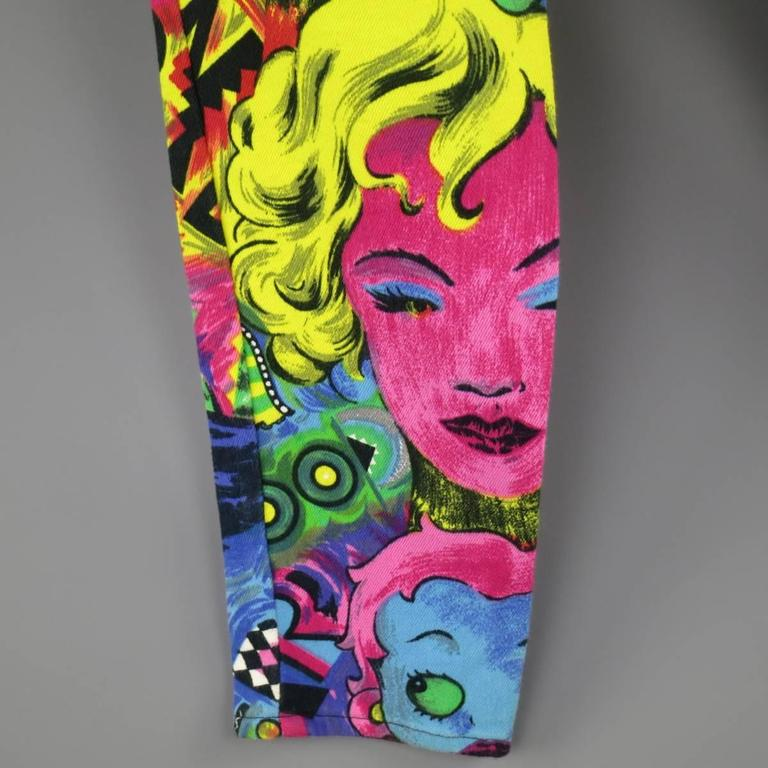 GIANNI VERSACE Jeans COUTURE 6 Multi-Color Marilyn Monroe and Betty Boop Jeans 5