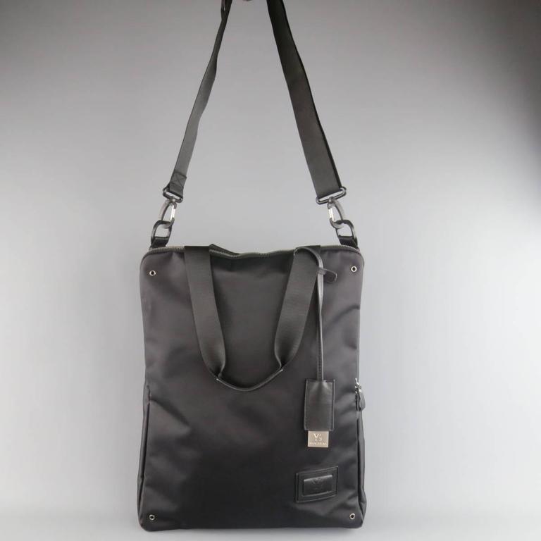 5289a28c7d3d Women s or Men s Y s by YOHJI YAMAMOTO MANDARINA Black Nylon Crossbody Tote  Bag For Sale