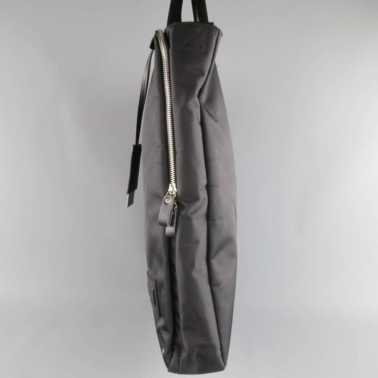 b6249d4148da Y s by YOHJI YAMAMOTO MANDARINA Black Nylon Crossbody Tote Bag For Sale 2